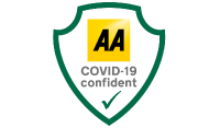 COVID-19 Confident logo by the AA