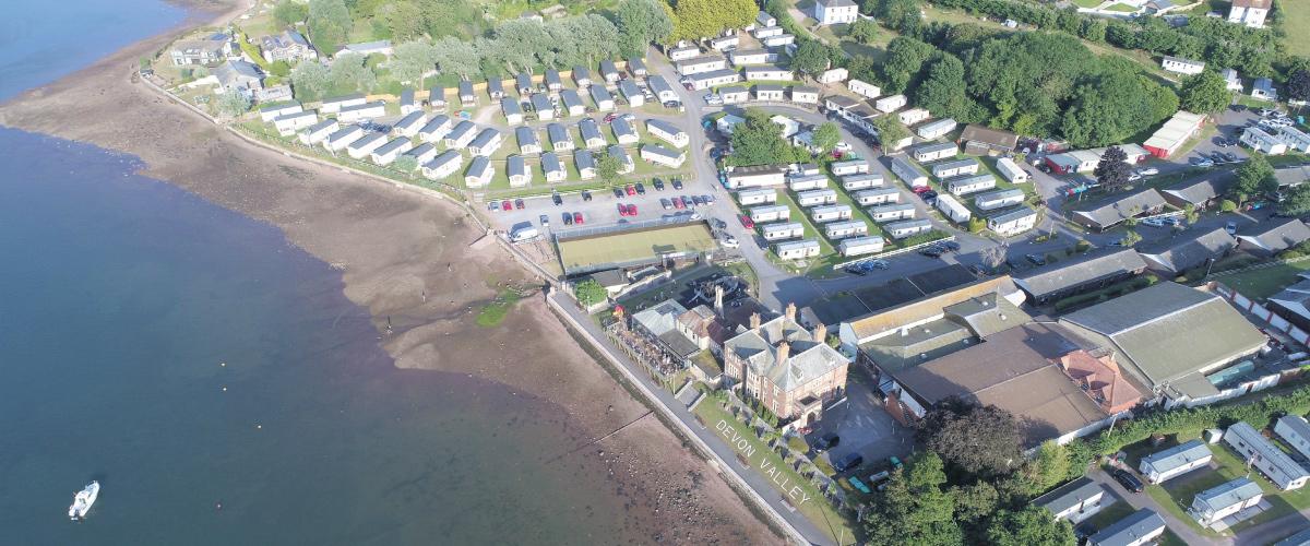 Aerial view of Devon Valley