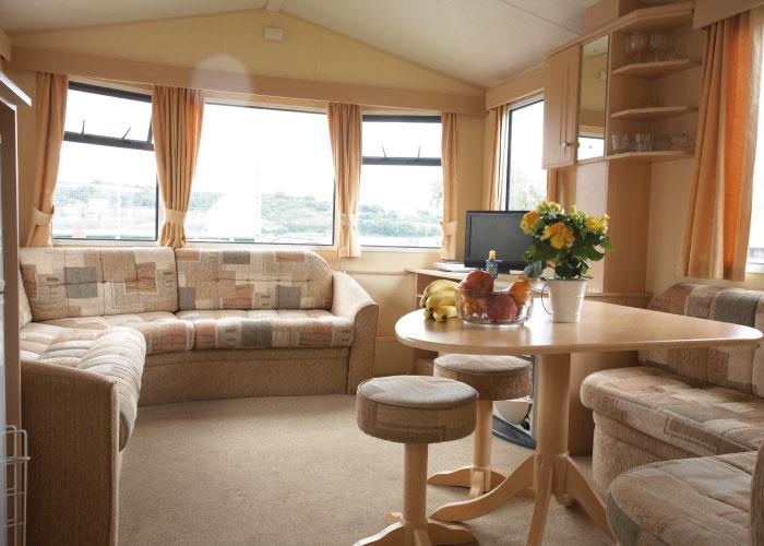 Shaldon Silver caravan living area