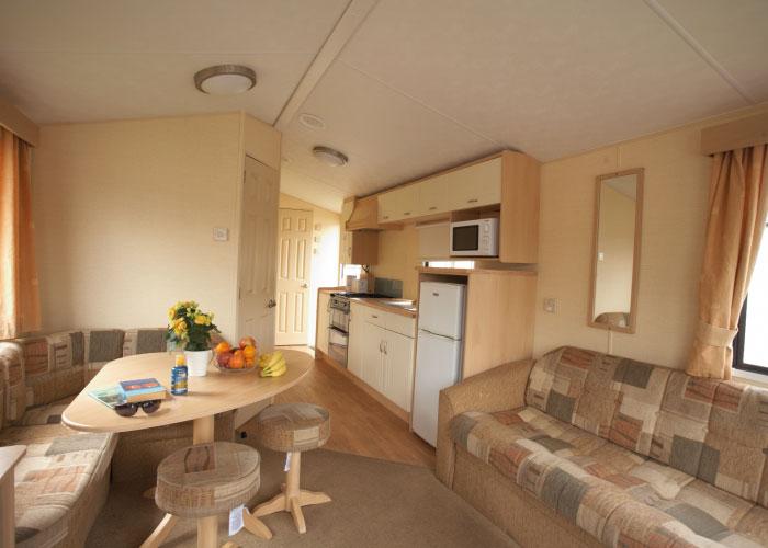 Shaldon Silver caravan kitchen
