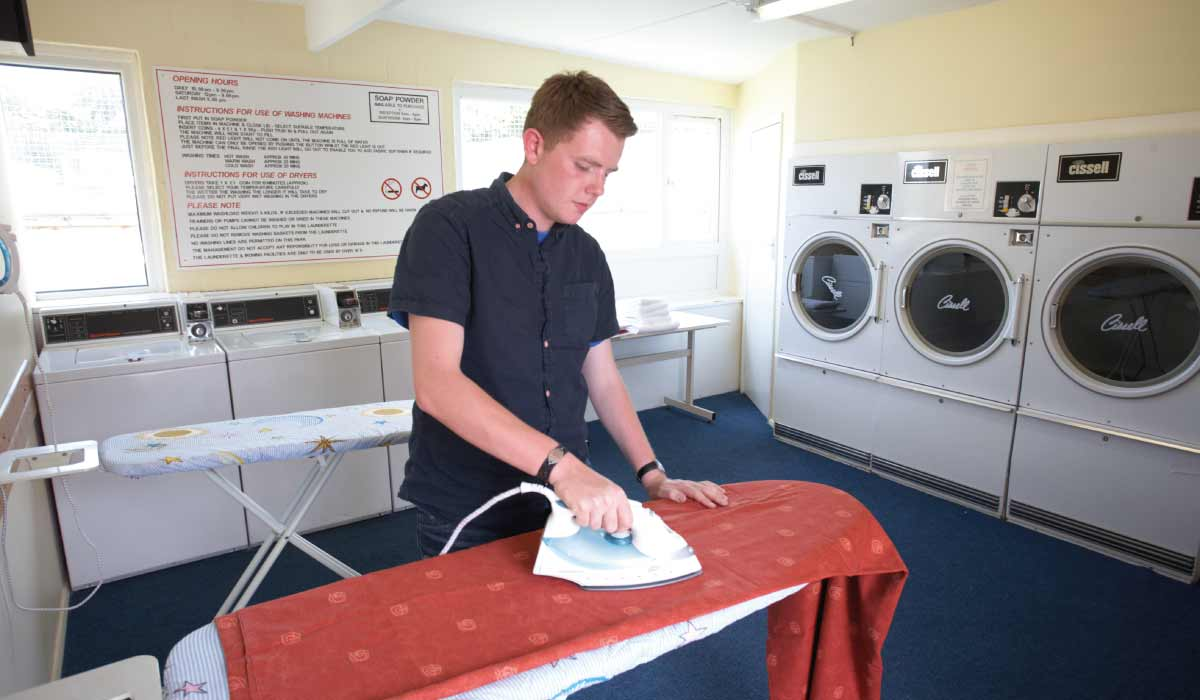 On-site self-service launderette