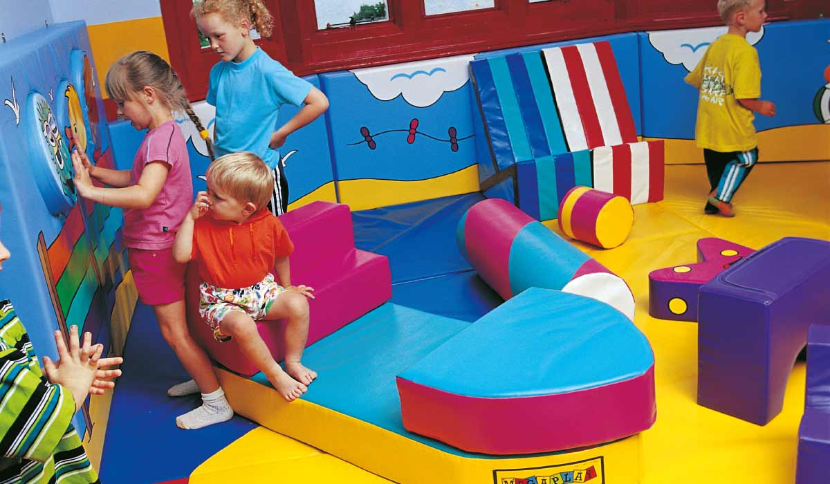 Under 5s' soft play area