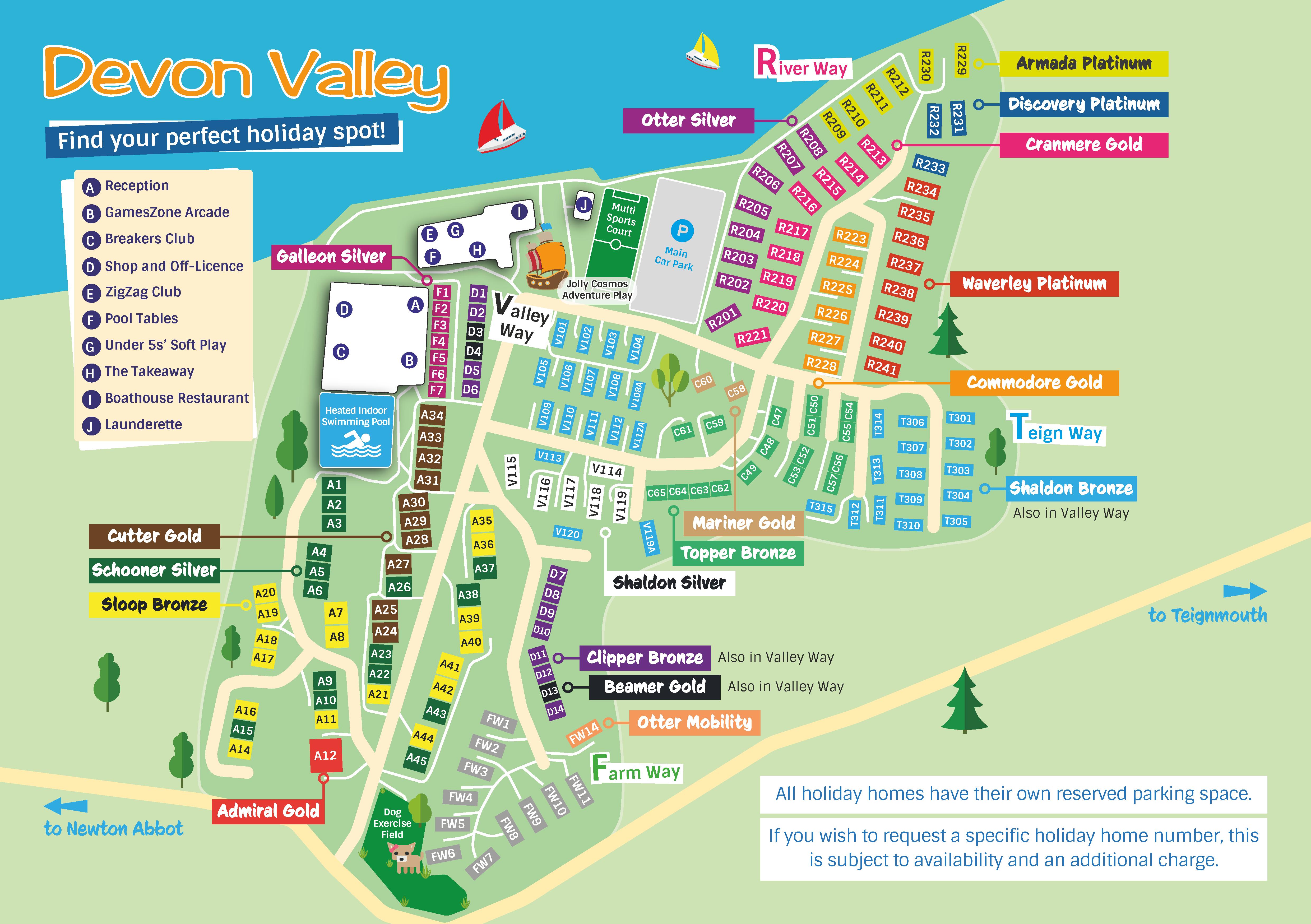 Devon Valley Park Map